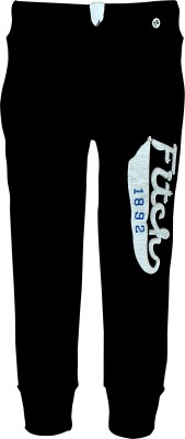 Gee & Bee Applique Boy's Black Track Pants