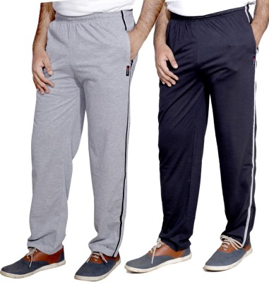 IndiWeaves Solid Men's Grey, Blue Track Pants