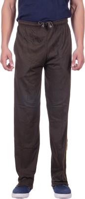 Sprig Striped, Solid Men's Dark Green Track Pants