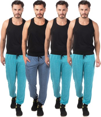 Meebaw Self Design Men's Dark Blue, Blue, Blue, Blue Track Pants