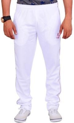 Vego Self Design Men's White Track Pants