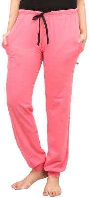 Nite Flite Solid Womens Pink Track Pants