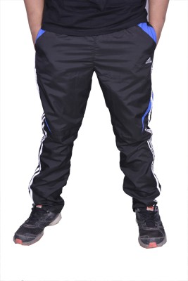 Front Look Club Solid Men's Black, Blue Track Pants
