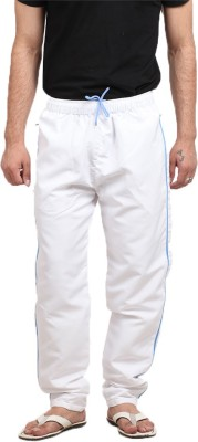 X-Cross Solid Men's White Track Pants