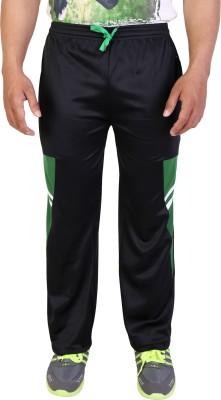 Obvio Solid Men's Black Track Pants