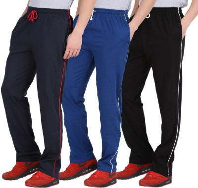 CHECKERSBAY Solid Men's Dark Blue, Blue, Black Track Pants