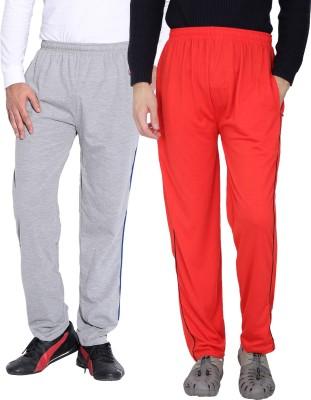 Fizzaro Solid Men's Grey, Red Track Pants