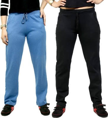 By The Way Solid Women's Blue, Black Track Pants