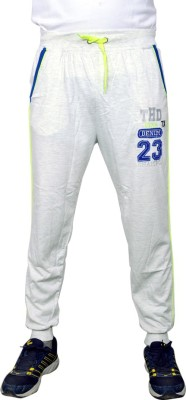 NGT Embroidered Men's White Track Pants