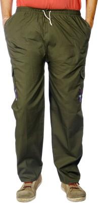 AADUKI Solid Men's Dark Green Track Pants