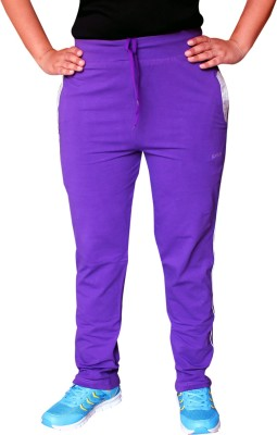 Pepe Rosso Solid Women's Purple Track Pants