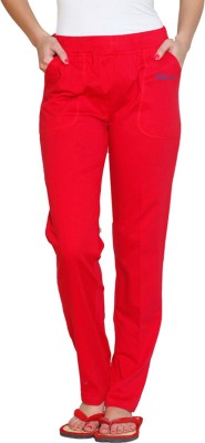 Sweet Dreams Solid Women's Red Track Pants