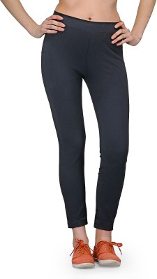 Aspasia Solid Women's Black Track Pants