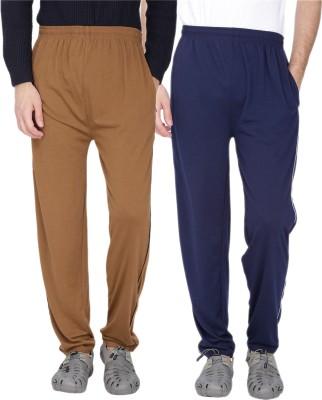 Fizzaro Solid Men's Brown, Blue Track Pants