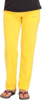 Colors & Blends Solid Women's Yellow Track Pants at flipkart
