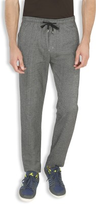AVOQ-Style Reboot Self Design, Solid Men's Black Track Pants