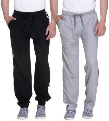 Grand Bear Striped Men's Black, Grey Track Pants