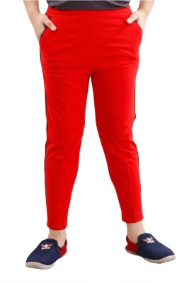 Fizzi Pro Solid Boys Red Track Pants