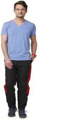 ABLOOM Self Design Men's Black Track Pants