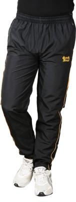 Blue Horse Solid Men's Black, Yellow Track Pants