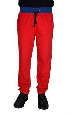 Gen Printed Men,s Red Track Pants