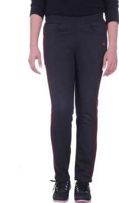 Rafters Solid Women's Black, Red Track Pants