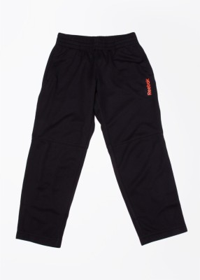 Reebok Self Design Boy's Black Track Pants