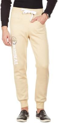 American Swan Solid Men's Brown Track Pants