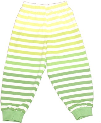 Ollypop Striped Boy's Light Green Track Pants