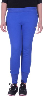 Rafters Solid Women's Blue Track Pants