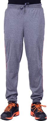 DFH Solid Men's Grey, Red Track Pants