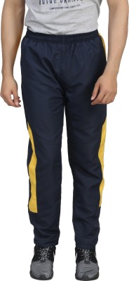 Trendy Trotters Solid Men's Blue Track Pants