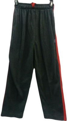 Angel Kids Solid Boy's Grey Track Pants