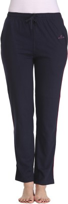 Tryd Pro Striped, Solid Women's Dark Blue Track Pants