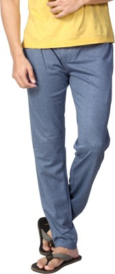 AVOQ-Style Reboot Solid Men's Light Blue Track Pants