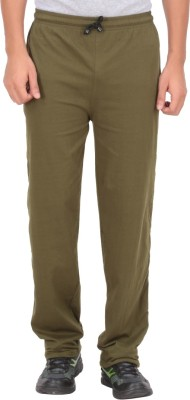 Fit & Fashion Solid Men's Green Track Pants