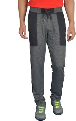 London Eye Self Design Men's Black Track Pants