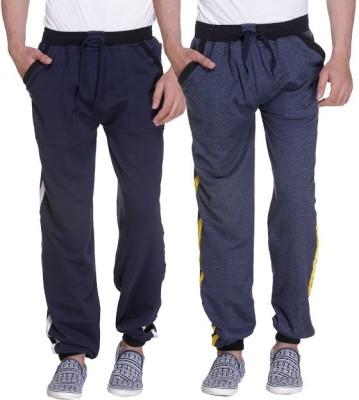 Grand Bear Striped Men's Dark Blue, Blue Track Pants