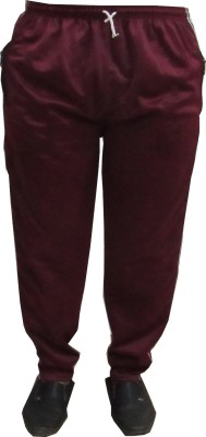Revinfashions Solid Men's Maroon Track Pants