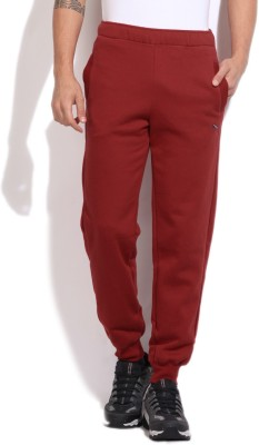 Puma Solid Men's Red Track Pants