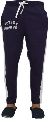 Vrexo Applique, Solid Men,s Purple, White Track Pants