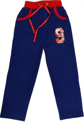 Crux&Hunter Solid Boy's Blue Track Pants