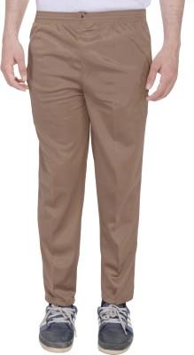 Kalrav Solid Men's Beige Track Pants