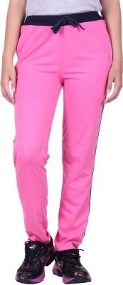 DFH Solid Women's Pink Track Pants at flipkart