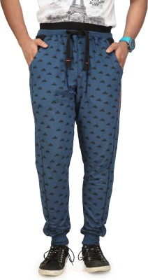 Cult Fusion Printed Men's Blue Track Pants