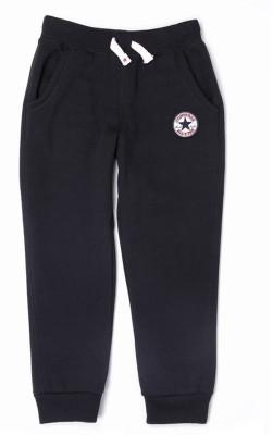 Converse Solid Boy's Black Track Pants