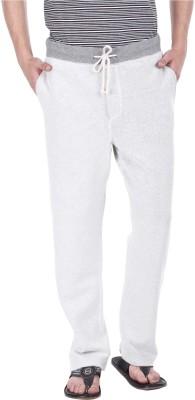 Zobello Solid Men's White Track Pants