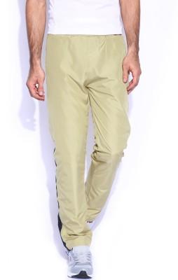 Le Bison Solid Men's Beige Track Pants