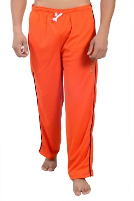 Parv Collections Solid Men,s Orange Track Pants