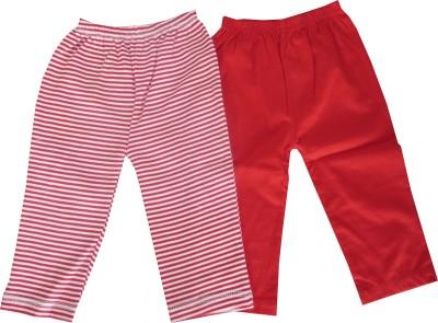 Magic Train Self Design, Striped Baby Boy's Red Track Pants
